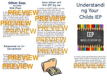 Understanding Your Childs IEP - brochure for parents