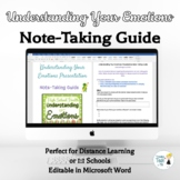 Understanding Your Emotions Note-Taking Guide - Online Dis