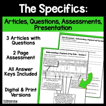 Financial Literacy Understanding a Paycheck