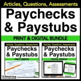 Financial Literacy Understanding a Paycheck BUNDLE with DI