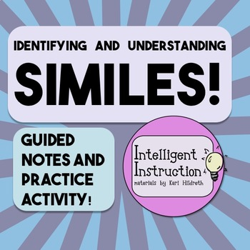 Similes: Guided Notes and Poetry Analysis Practice Activity