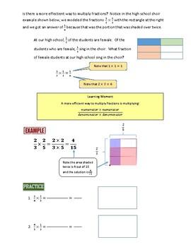 Understanding and Procedurally Multiplying Fractions