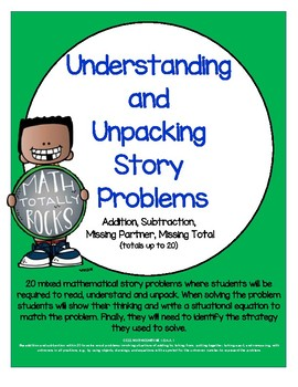 Understanding and Unpacking Story Problems