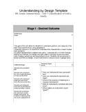 Understanding by Design - General Music - Unit 1 Classific