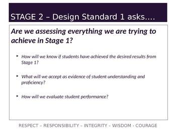 Understanding by Design Stage 2 Part 1 PPT