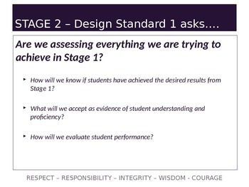 Understanding by Design Stage 2 Part 1 PPT