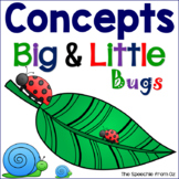 Concepts Big and Little for speech therapy