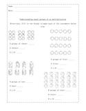 Understanding equal groups of as multiplication worksheet