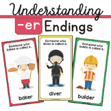 Understanding -er Endings (Community Helpers) (changing verb to noun)