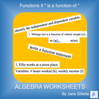 """Understanding """"f is a function of x"""", independent and dependent variables"""