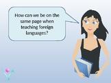 Understanding level descriptors and standards for teaching languages