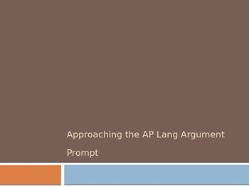 Understanding the AP Language and Composition Argument Prompt