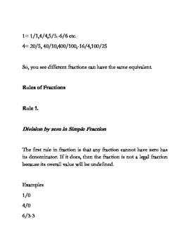 Understanding the Basic of Fraction