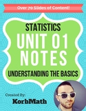 Understanding the Basics of Statistics - Unit 1 Notes PowerPoint