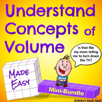 Understanding Concepts of Volume - Mini-Bundle