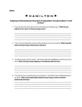 "Understanding the DOI through Hamilton's ""Youll Be Back"""