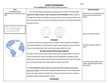 Understanding the Earth and Location