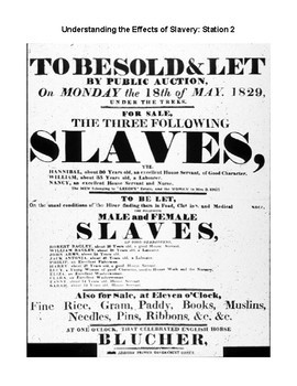 Understanding the Effects of Slavery