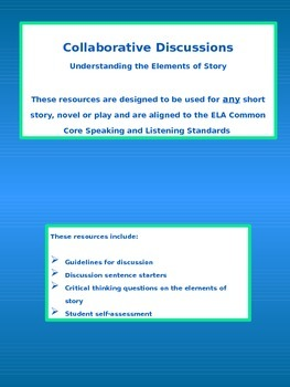 Understanding the Elements of Story - Collaborative Discussions on Literature