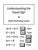 Understanding the Equal Sign Math Game - First Grade