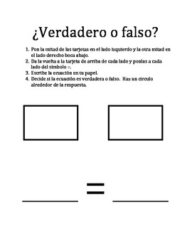 Understanding the Equal Sign in Spanish (en español)