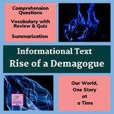 The Rise of a Demagogue: Nonfiction Reading Passage