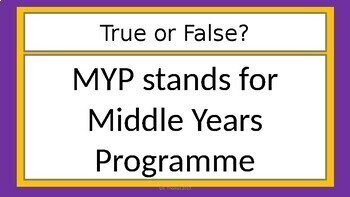 Understanding the IB MYP- A Presentation for Parents and Students