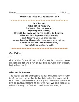 Understanding the Our Father Line by Line