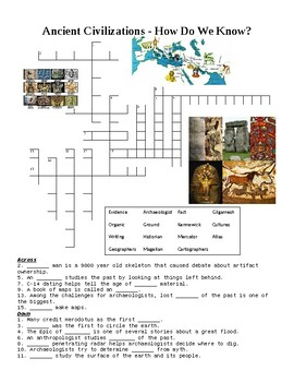 Understanding the Past Crossword Puzzle or Web Quest