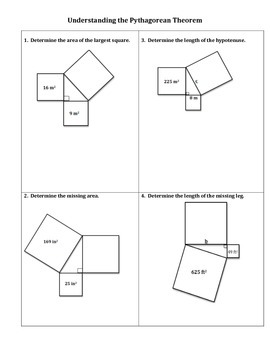 understanding the pythagorean theorem worksheet by no frills math. Black Bedroom Furniture Sets. Home Design Ideas