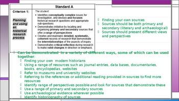 Understanding the QCAA History Criteria Sheet