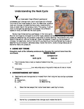 Understanding the Rock Cycle: A Critical Thinking Activity