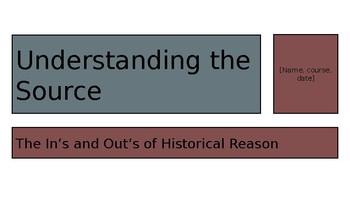 Understanding the Source Powerpoint