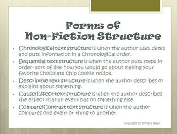 Understanding the Structure of the Text Reading Strategy PowerPoint