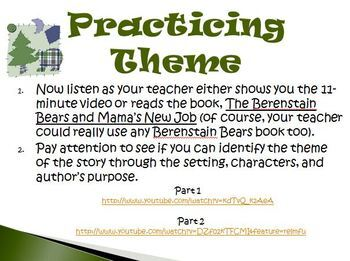 Theme Reading Strategy Presentation Activity