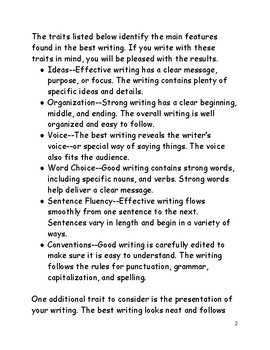 Understanding the Traits of Writing