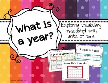 Understanding units of time - Exploring vocabulary associa