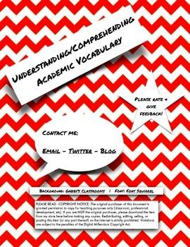 Understanding/Comprehending Academic Vocabulary