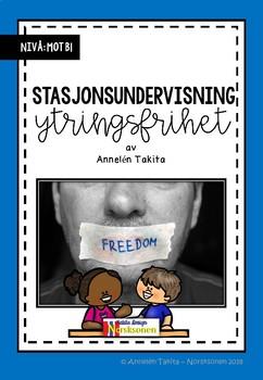 Undervisningsopplegg: Stasjonsundervisning om ytringsfrihet (Norsk /NOA)