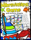 Abbreviations Game: 30 Sets of Task Cards, Game Board, & Answer Key