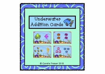Underwater Addition Picture Cards/Maths Center/Scoot
