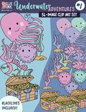 Underwater Adventure #1 Clip Art – Commercial Use