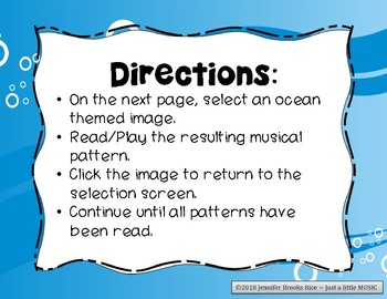 Underwater Adventure - Ocean Themed Melody Reading Practice Game {pentatonic}