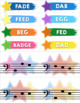 Treble Clef & Bass Clef Note Matching Centers - Outer Space Adventure Edition