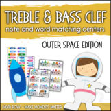 Treble Clef & Bass Clef Note Matching Centers - Outer Spac
