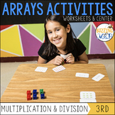 Multiplication and Division Arrays Center and Worksheets