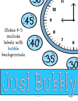 Underwater Clock Labels: Ocean Classroom Theme Decor