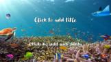 Underwater Life Fish Stingray Turtle OCEAN FUN PowerPoint