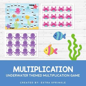 Underwater Multiplication Board Game