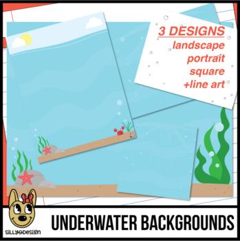 Underwater Ocean Sea Background Scenes Clip Art